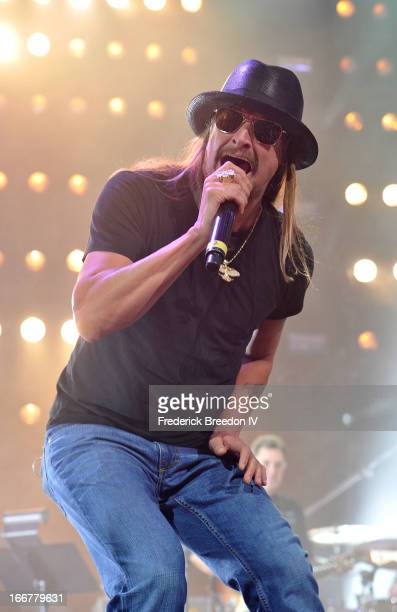 Kid Rock performs during Keith Urban's Fourth annual We're All For The Hall benefit concert at Bridgestone Arena on April 16 2013 in Nashville...