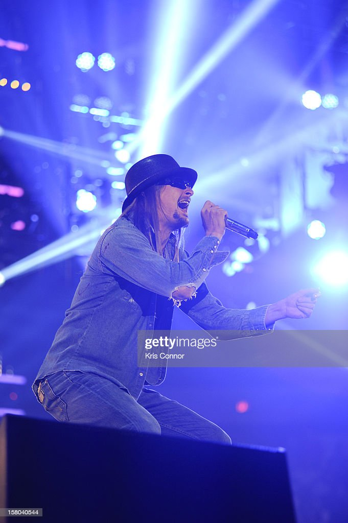 Kid Rock performs during the 10th anniversary of WWE Tribute to the Troops at Norfolk Scope Arena on December 9, 2012 in Norfolk, Virginia.