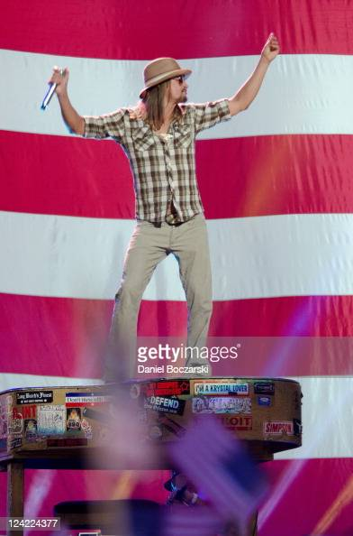 Kid Rock performs during the 2011 NFL Kickoff concert at Lambeau Field on September 8 2011 in Green Bay Wisconsin