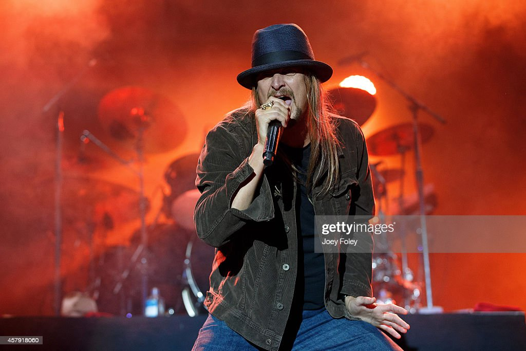 <a gi-track='captionPersonalityLinkClicked' href=/galleries/search?phrase=Kid+Rock&family=editorial&specificpeople=171123 ng-click='$event.stopPropagation()'>Kid Rock</a> performs live onstage during the 2014 Louder Than Life Festival at Champions Park on October 5, 2014 in Louisville, Kentucky.