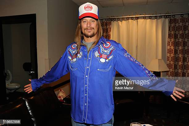 Kid Rock poses backstage at the 2011 CMT Music Awards at the Bridgestone Arena on June 8 2011 in Nashville Tennessee