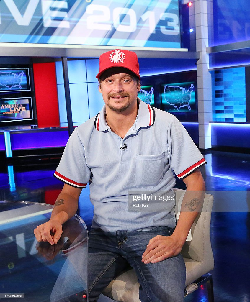 <a gi-track='captionPersonalityLinkClicked' href=/galleries/search?phrase=Kid+Rock&family=editorial&specificpeople=171123 ng-click='$event.stopPropagation()'>Kid Rock</a> visits FOX's 'America Live' at FOX Studios on June 19, 2013 in New York City.