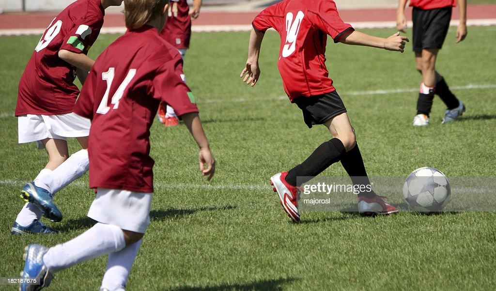 kid soccer players : Stock Photo