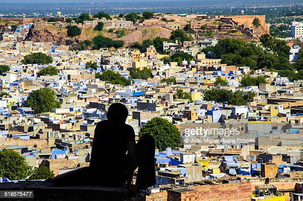 Kid watching the Blue City of Jodhpur