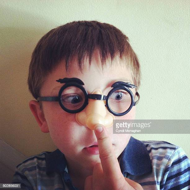 Kid Wearing Nose Glasses