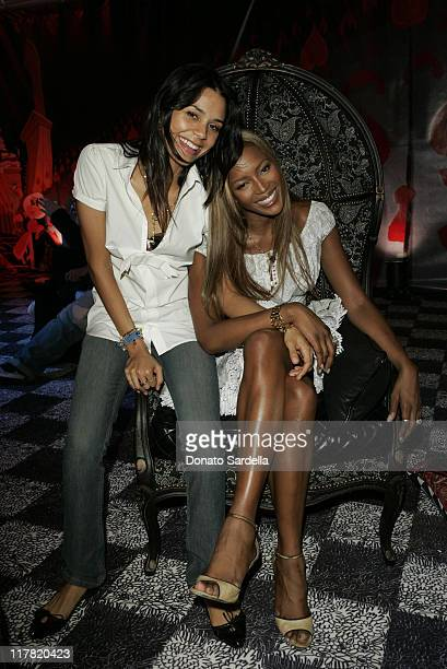Kidada Jones and Naomi Campbell during Disney's Alice in Wonderland Mad Tea Party at Private Residence in Los Angeles California United States