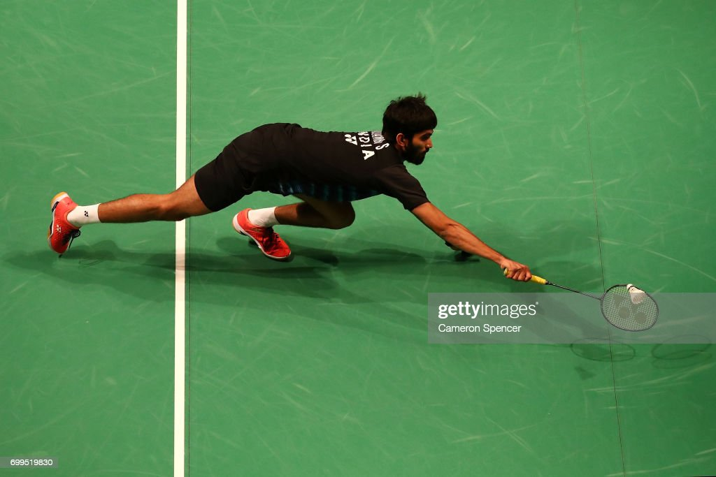 Kidambi Srikanth Of India Plays A Shot During His R16 Match Against Son Wan Ho