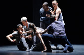 Kidd Pivot Electric Company Theatre perform 'Betroffenheit' at Sadlers Wells on May 31 2016 in London England