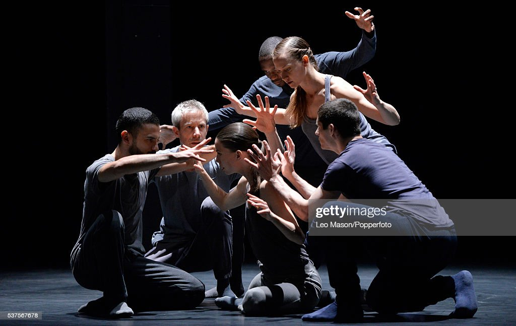 Kidd Pivot Electric Company Theatre perform 'Betroffenheit' at Sadlers Wells on May 31, 2016 in London, England.