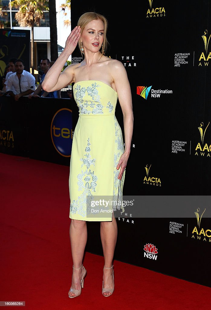 Kidman arrives for the 2nd Annual AACTA Awards at The Star on January 30, 2013 in Sydney, Australia.