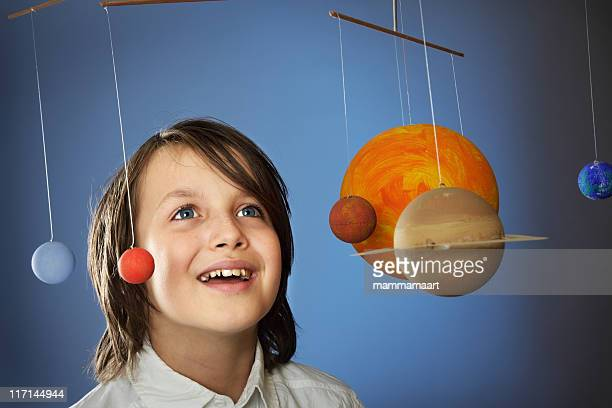 Kids & Science, homemade Solar System - Studio
