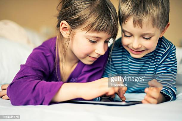 Kids and a tablet