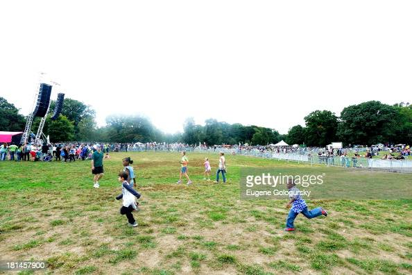 Kids and families enjoy the activities at Nickelodeon's 10th Annual Worldwide Day of Play in Brooklyn's Prospect Park at Prospect Park on September...