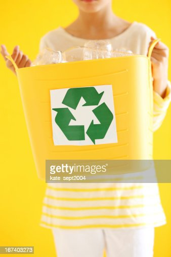 Kids and recycling : Stock Photo