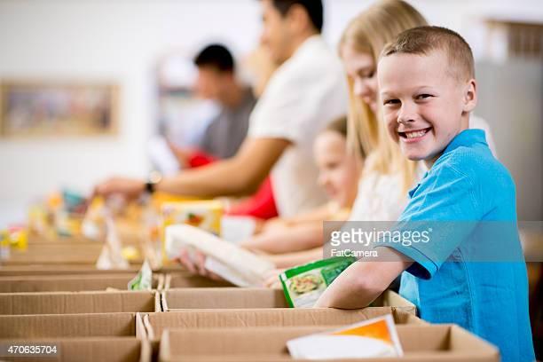 Kinder im Food Bank