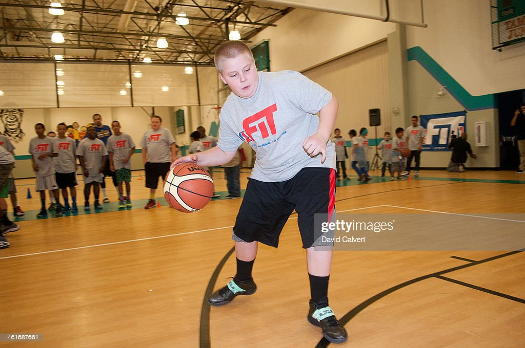 Kids at the Boys & Girls Club of the Truckee Meadows during the NBA D-League FIT clinic part of the 2014 NBA D-League Showcase on January 7, 2014 in Reno, Nevada.
