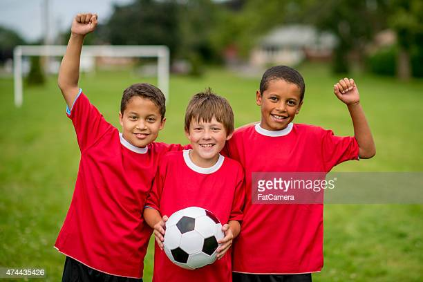 Kids Cheering after a Game
