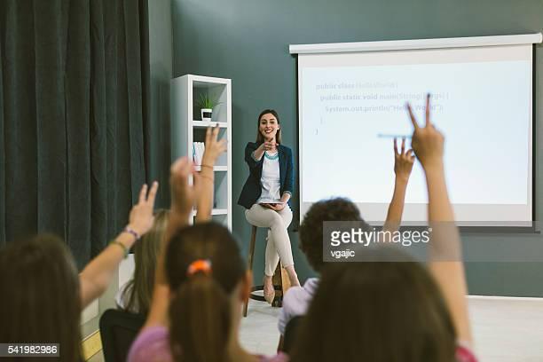 Kids Coding In School.