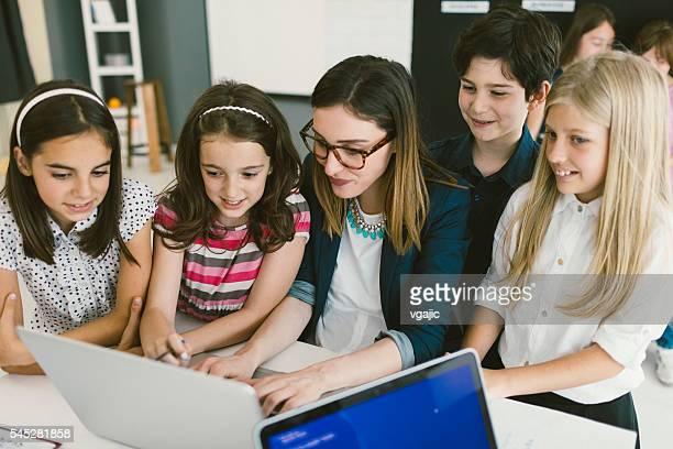 Kids Coding In School