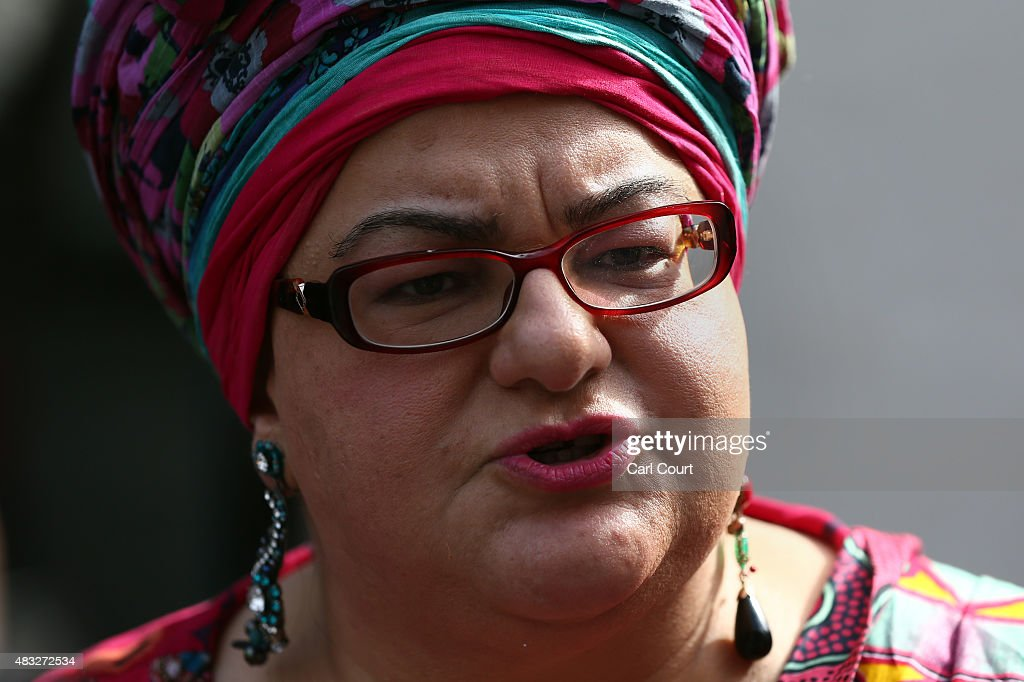 Kids Company founder Camila Batmanghelidjh speaks to a journalist as she leaves radio studios on August 7 2015 in London England Kids Company a...