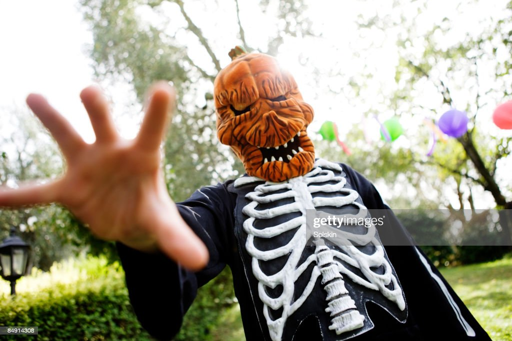 Kids costume party monster : Stock Photo