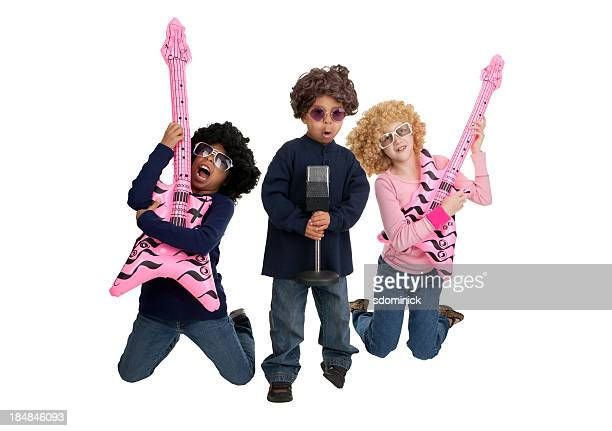 Kids Dressed as Rock Stars
