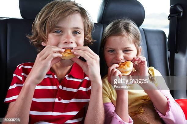 Kids having a snack