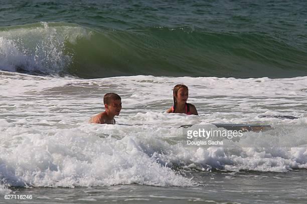 Kids having fun in the Ocean, Myrtle Beach, South Carolina, USA
