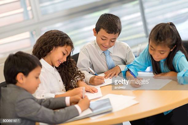 Kids in a business meeting