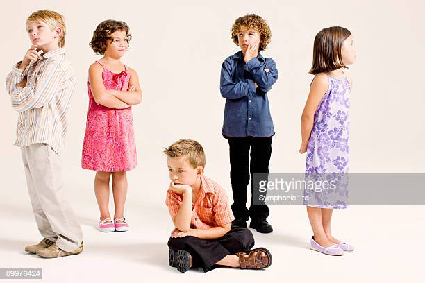 kids in thinking poses