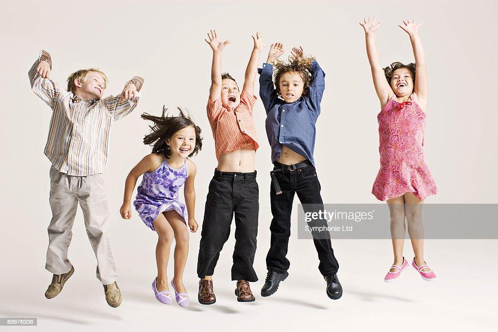 kids jumping : Stock Photo