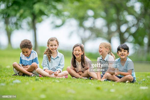 Kids Laughing Outside at the Park