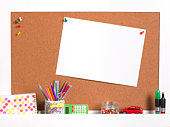 Kids notice board with copy space