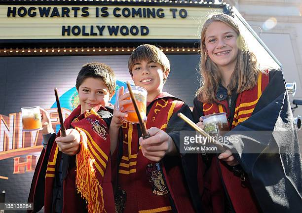 Kids of Universal Studio employees attend Universal Studios Hollywood Hosts Butterbeer Toast at The Globe Theatre on December 6 2011 in Universal...