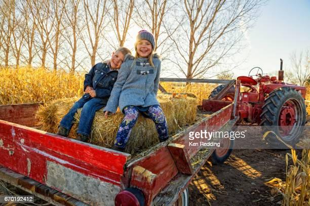 Kids on a Hayride