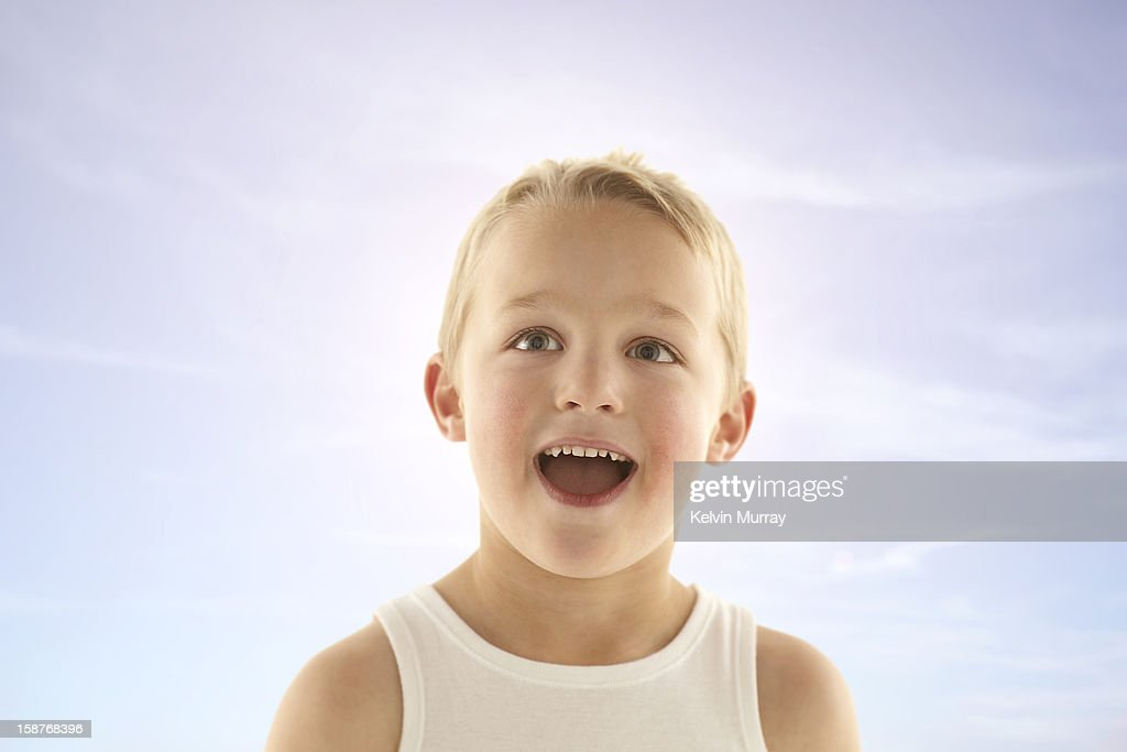 Kids on Sky : Stock Photo