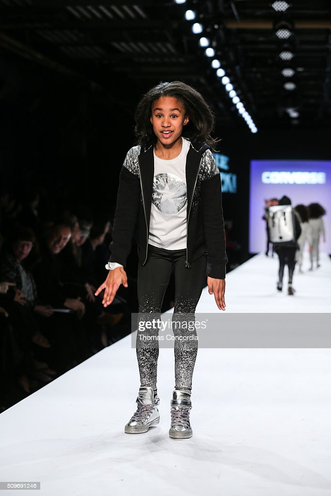 Kids perform on the runway during Rookie USA Presents Kids Rock! Fall 2016 at New York Fashion Week: The Shows at Skylight at Moynihan Station on February 11, 2016 in New York City.