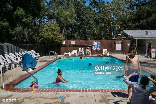 Kids play in the pool at Rancho Oso Resort in Santa Barbara County's backcountry on May 13 near Santa Ynez California Located 45 minutes north of...