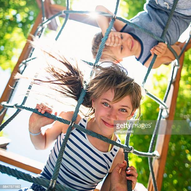 Kids playing at the playground