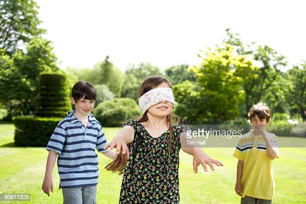 Kids playing in garden