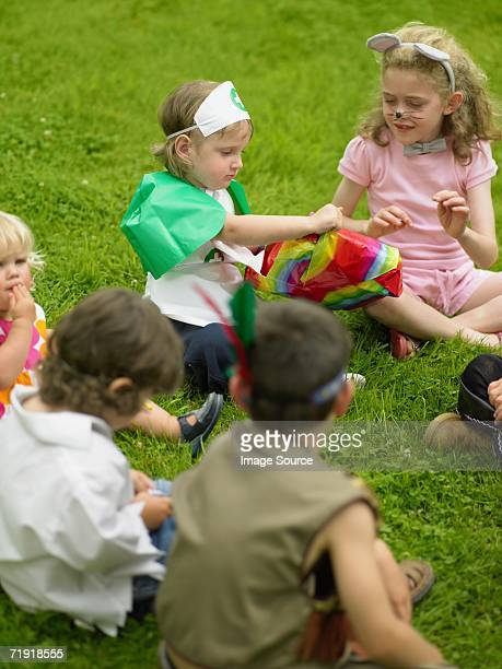 Kids playing pass the parcel