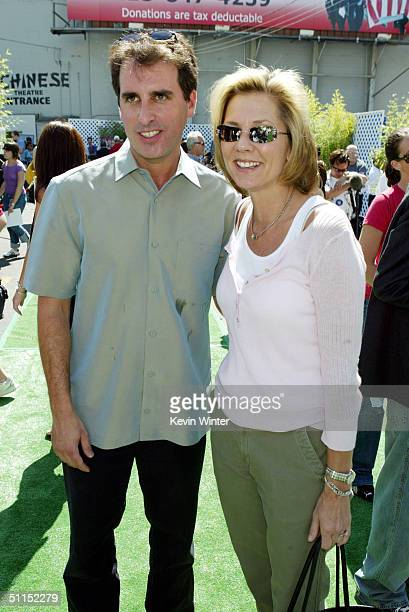 Kids Productions' Norman Grossfeld and Warner Bros Dawn Taubin arrive for the premiere of Warner Bros 'YuGiOh The Movie' at the Chinese Theater...