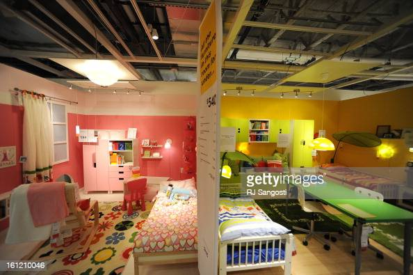 kids rooms in the showroom wednesday july 20 2011 of colorados first ikea store in centennial get customers room design ideas as they shop