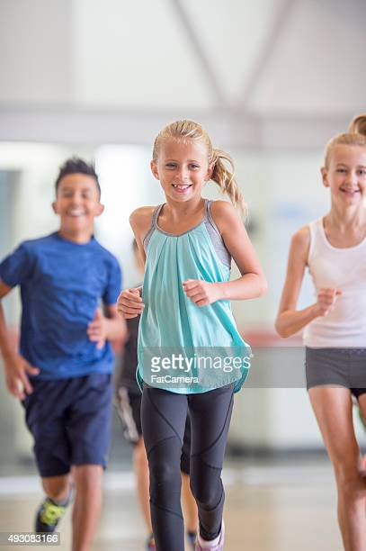 Kids Running During Gym Class