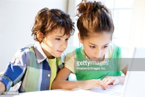 Kids screen time : Stock Photo