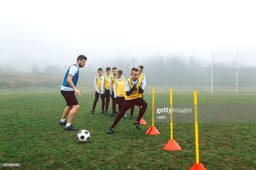 Kids Soccer Training. : Stock Photo