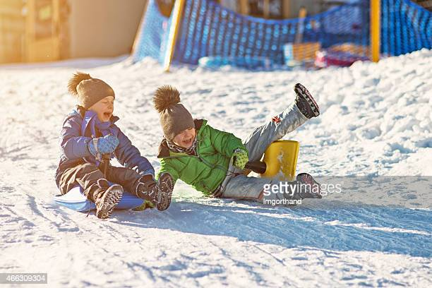 Kids speed sledge race