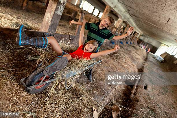 Kinder Sommer Urlaub auf der farm