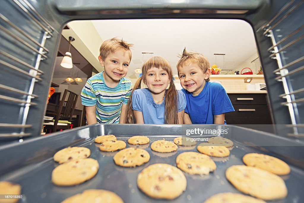 Kids waiting for cookies