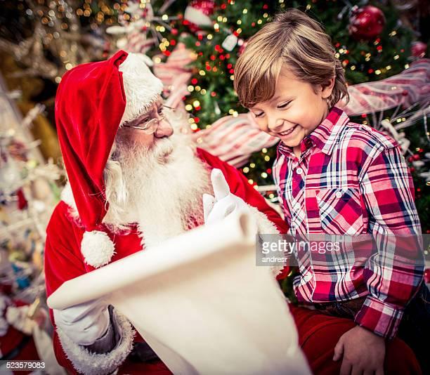 Enfants avec le Père Noël